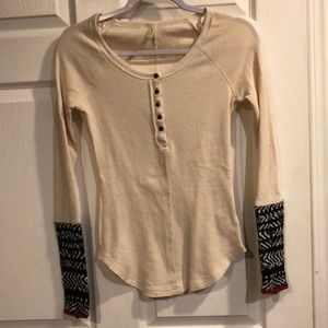 Free people thermal with sweater sleeves